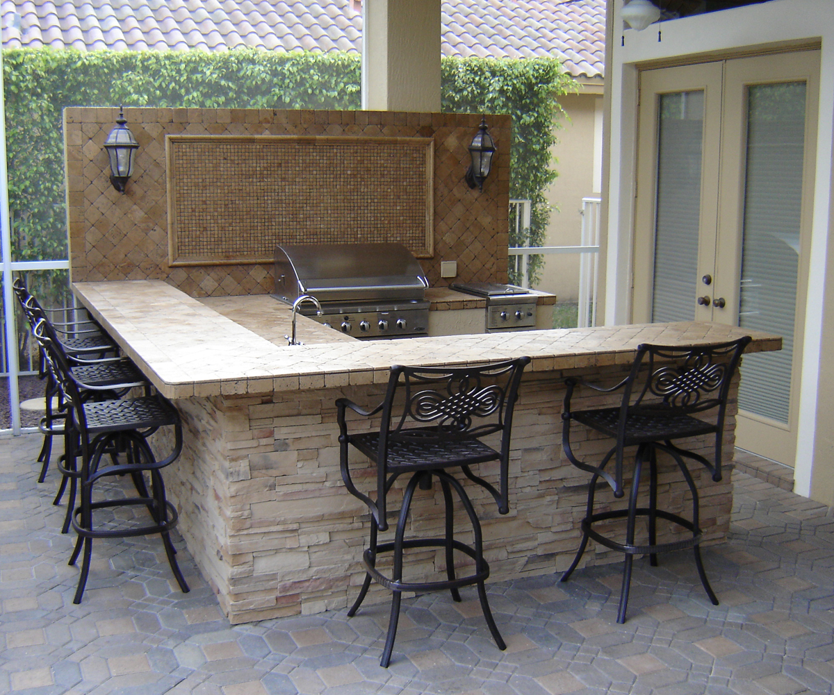 Outdoor Kitchen Wood Countertops: Grill N Propane